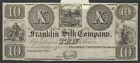 Franklin, Ohio The Franklin Silk Company, $10 Remainder, vChCU
